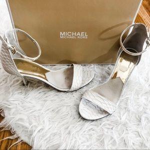 White Michael Kors Heels